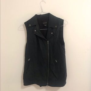 Club Monaco charcoal biker style vest